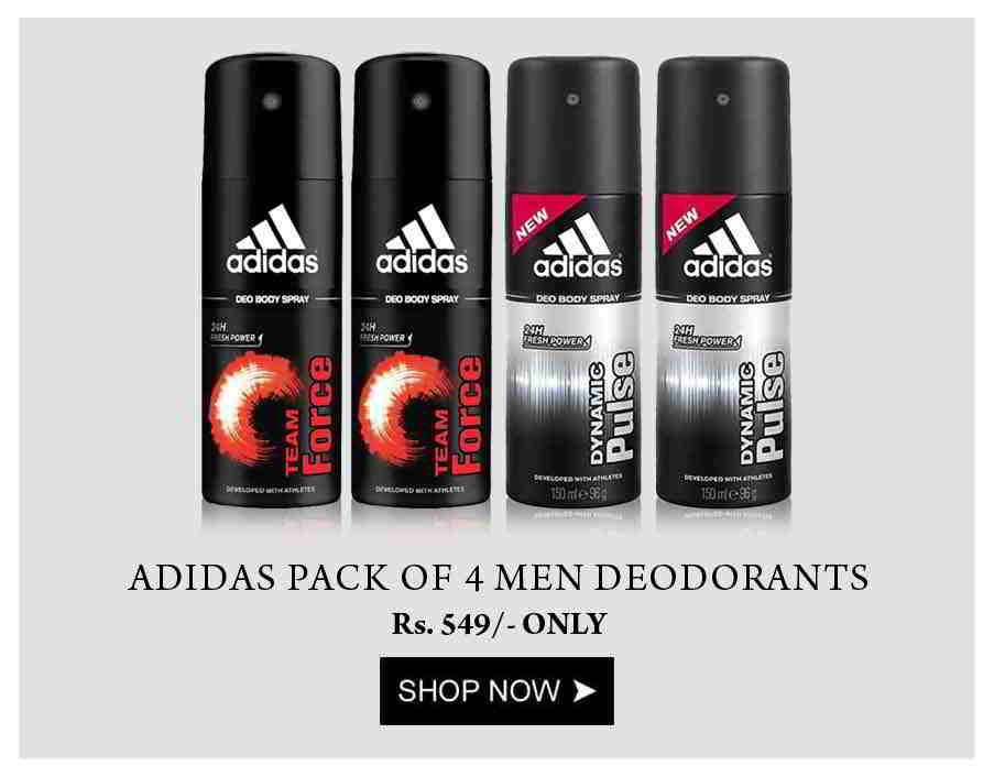 Adidas Pack of 4 Men Deodorants