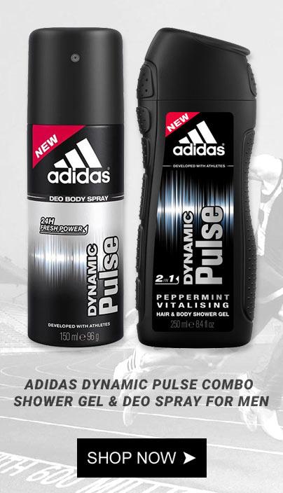 Adidas Deodorants, Adidas Dynamic Pulse Deodorant Shower Gel, Buy Deo Online in India, Buy Deo in India, Buy Adidas Perfume and Deodorants Online in India Lowest Price