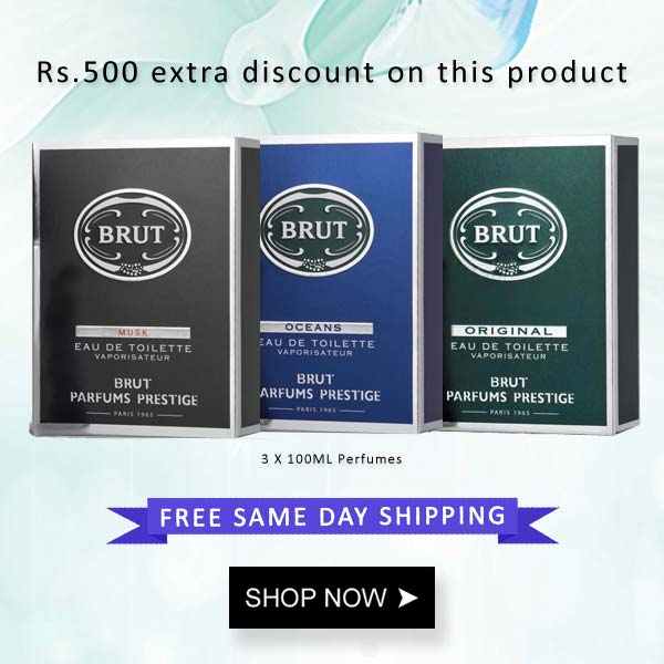 Brut Original Musk And Oceans EDT Perfme 3 Piece Combo For Men