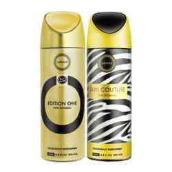 Armaf Edition One, Skin Couture Pack of 2 Deodorants
