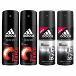 Adidas 2 Dynamic Pulse, 2 Team Force Pack Of 4 Deodorants