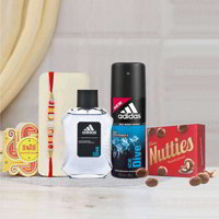 Adidas Ice Dive Perfume And Deo Rakhi Gift Pack