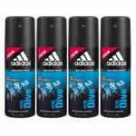Adidas Value Pack Of 4 Ice Dive Deodorants
