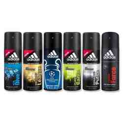 Adidas Ice Dive, Team Force, Dynamic Pulse, Victory League, Pure Game And Champions League Value Pack of 6 Deodorants