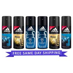 Adidas Value Pack Of 6 Long lasting Deodorants