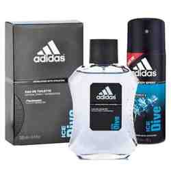 Adidas Ice Dive Perfume And Deodorant Combo