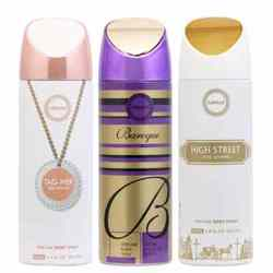 Armaf High Street, Baroque And Tag Her Pack Of 3 Deodorants For Women