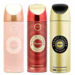Armaf Vanity Femme - Essence, Gold And Elegance Pack Of 3 Deodorants