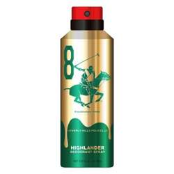 Beverly Hills Polo Club Highlander No 8 Gold Edition Deodorant For Men