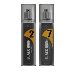 Black Burn 2 And 7 Set of 2 Alcohol Free Deodorants For Men