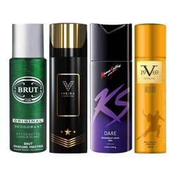 Brut Original, Iveira Italiano Black, Kamasutra Dare, Versace 1969 Allure Pack of 4 Deodorant Sprays