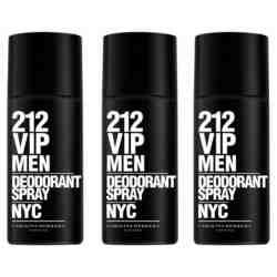 Carolina Herrera 212 VIP Pack of 3 Deodorant Sprays