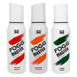Fogg Master Agar Cedar Pine Pack of 3 Deodorant Sprays