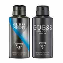 Guess Night And Seductive Homme Pack Of 2 Deodorants For Men