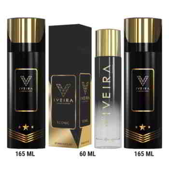 Iveira Italiano Combo Of Iconic Perfume And 2 Black Deodorants Luxury Perfume Spray