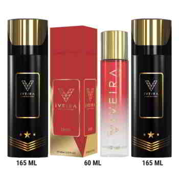 Iveira Italiano Combo Of Unik Perfume And 2 Black Deodorants Luxury Perfume Spray