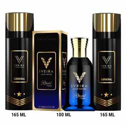 Iveira Italiano Royal Perfume And 2 Black Deodorants Combo