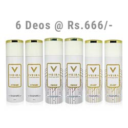 Iveira Italiano Value Pack of 6 Deodorants