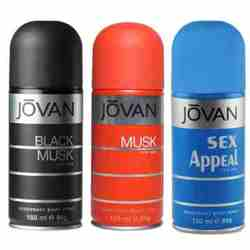 Jovan Black Musk, Musk, Sex Appeal Pack of 3 Deodorants