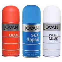 Jovan Musk, Sex Appeal, White Musk Pack of 3 Deodorants