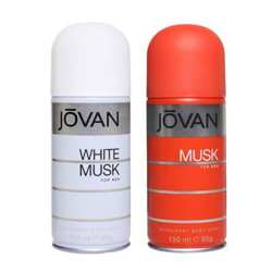 Jovan Musk, White Musk Pack of 2 Deodorants For Men