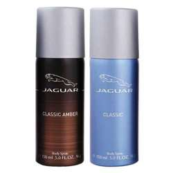 Jaguar Classic Amber And Blue Value Pack Of 2 Deodorants For Men