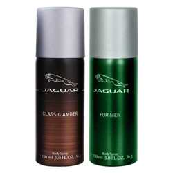 Jaguar Classic Amber And Green Value Pack Of 2 Deodorants