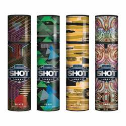 Layerr Shot Maxx Blaze, Flair, Flick, Rage Pack of 4 Perfume Body Sprays