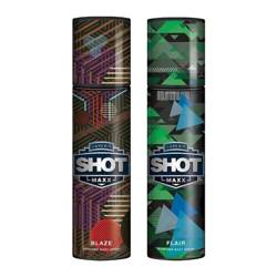 Layerr Shot Maxx Blaze, Flair Pack of 2 Perfume Body Sprays