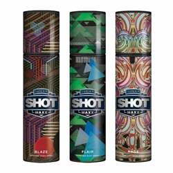 Layerr Shot Maxx Blaze, Flair, Rage Pack of 3 Perfume Body Sprays