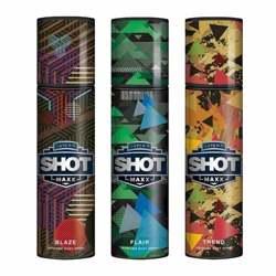 Layerr Shot Maxx Blaze, Flair, Trend Pack of 3 Perfume Body Sprays