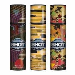 Layerr Shot Maxx Blaze, Flick, Trend Pack of 3 Perfume Body Sprays