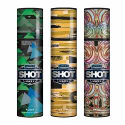 Layerr Shot Maxx Flair, Flick, Rage Pack of 3 Perfume Body Sprays