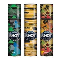 Layerr Shot Maxx Flair, Flick, Trend Pack of 3 Perfume Body Sprays