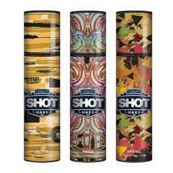 Layerr Shot Maxx Flick, Rage, Trend Pack of 3 Perfume Body Sprays