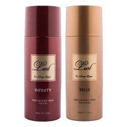 Lust by Sunny Leone Infinity, Belle Pack of 2 Deodorant Sprays
