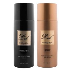 Lust by Sunny Leone Intense, Belle Pack of 2 Deodorant Sprays
