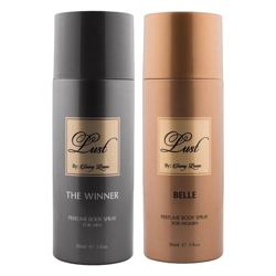 Lust by Sunny Leone The Winner, Belle Pack of 2 Deodorant Sprays