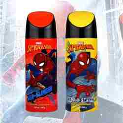 Marvel Spiderman Web Slinger And Wall Crawler Pack Of 2 Deodorants For Men
