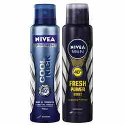 Nivea Cool Kick, Fresh Power Boost Pack of 2 Deodorants