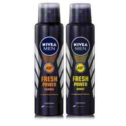 Nivea Fresh Power Boost, Fresh Power Charge Pack of 2 Deodorants