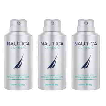 Nautica Classic Pack Of 3 Deodorants