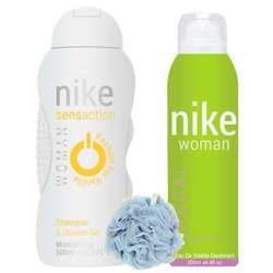 Nike Casual, Passion For Vanilla - Deo, Shower Gel And Loofah Combo For Women
