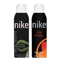 Nike On Fire And Green Storm Pack of 2 Deodorants