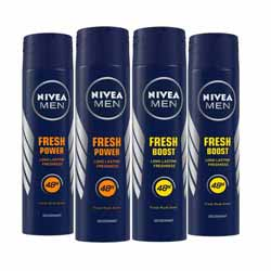Nivea Value Pack Of 4 Deodorants - 2 Power Charge And 2 Power Boost
