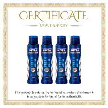 Nivea Fresh Active Value Pack of 4 Deodorants For Men