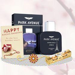 Park Avenue After 8 Perfume, Ferrero Rocher, Greeting Card, Rakhi Teeka Combo