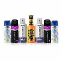 Park Avenue Super Saver Combo - 1 Beer Shampoo, 2 Storm, 2 Neo And 2 Splash Deodorants