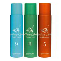 Royal County Of Berkshire Polo Club No 9, 8, 5 Pack of 3 Deodorant Sprays For Women