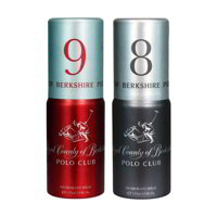 Royal County Of Berkshire Polo Club No 9, 8 Pack of 2 Deodorant Sprays For Men